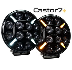 LEDSON Castor7+ LED Extraljus 60W med Gul-orange / Vitt Positionsljus (E-märkt, Driving Beam)