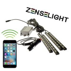ZenseLight RGB LED-list interiörbelysning (styr med din Apple/Android-mobil)