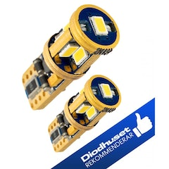 LED-lampor med 9 st Samsung-dioder (xenonvit, T10 / W5W) 2-pack