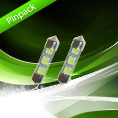 Spollampa, xenonvit, 3 LED - 36mm Pinpack 328531